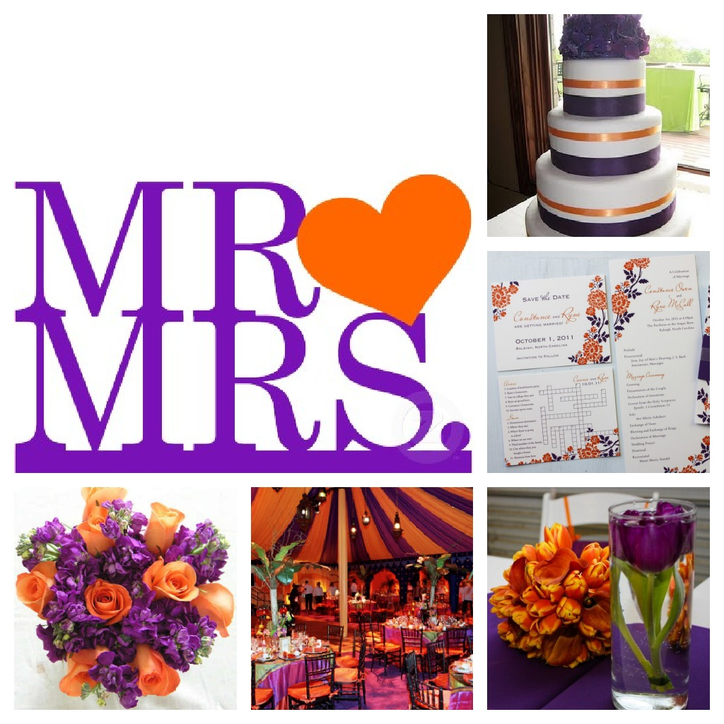 ORANGE PURPLE COLOR SCHEME